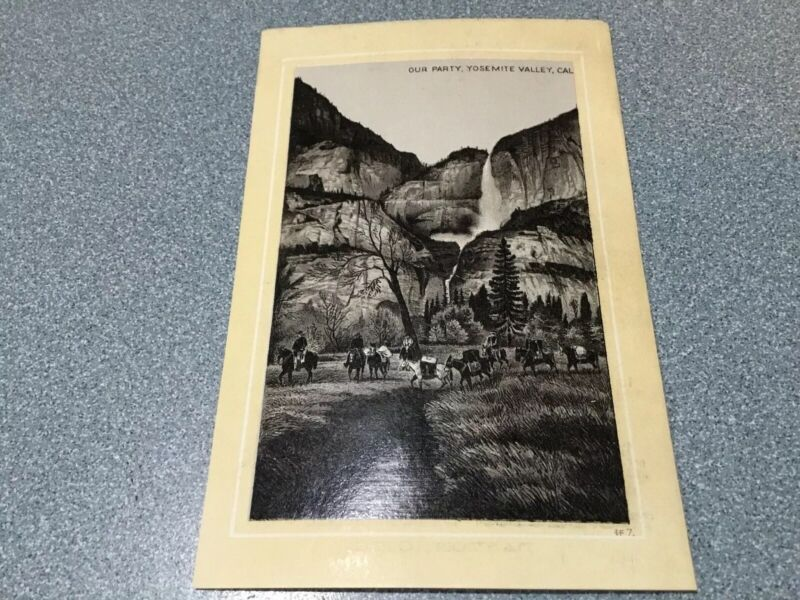 JERSEY COFFEE VICTORIAN  TRADE CARD OUR PARTY YOSEMITE VALLEY  CALIFORNIA