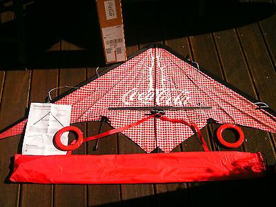 OVP Coca-Cola Lenkdrachen schwarz weiss rot Spannweite 175 cm mit Tragetasche 1A