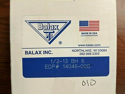 Balax 12-13 Bh6 Thread Forming Tap Lot Of 6 Taps Brand New Usa