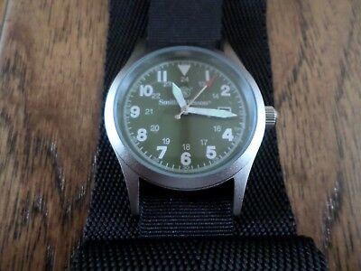 SMITH & WESSON MILITARY WATCH WITH COMMANDO WATCH BAND BLACK