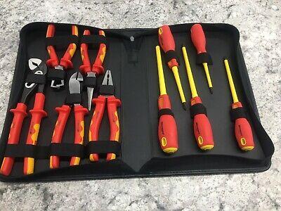Westward 1yxj7 Insulated Electrical Tool Set10 Pc.
