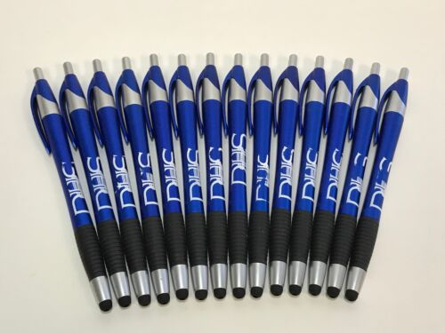 14 Lot Misprint Ink Pens with Soft Tip Touch Screen Stylus, Thin BLUE Barrel