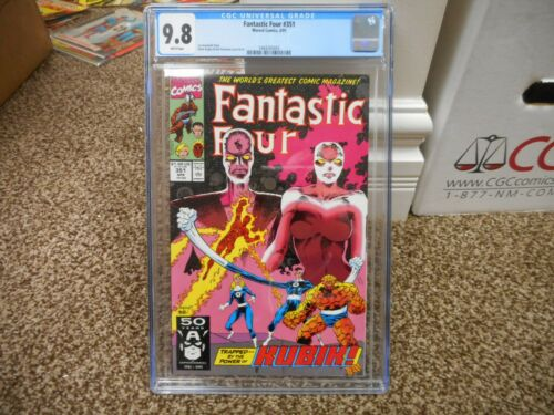 Fantastic Four 351 cgc 9.8 Marvel 1991 WHITE pages MINT Kubik Kosmos Mark Bagley