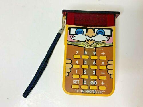Vintage 1976 Texas Instruments Little Professor Calculator Math Quiz Game Works