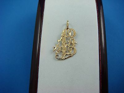 14K YELLOW GOLD #1 DAD CHARM PENDANT 1.1 GRAMS 1 INCH LONG