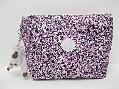 Kipling Ocean Breeze Purple Cosmetic Case Pouch Top Zip Monkey Aracely Zip NEW