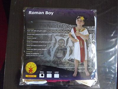 Boys Roman Costume Toga Fancy Dress Child Outfit age 3-4 years w/headdress