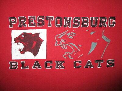 Prestonsburg Schwarzen Katzen T-Shirt Kentucky High School Panther - Panther Maskottchen