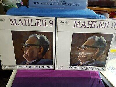 OTTO KLEMPERER GUSTAV MAHLER SYMPHONY NR 9 COLUMBIA SAX 5281 5282 2lp 1st LABEL