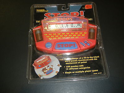 1998 STOP electronic fill in the blank word game tiger electronics