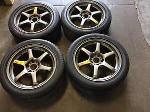 """JDM STAGGERED PRODRIVE MAGS (5X114) 17"""""""