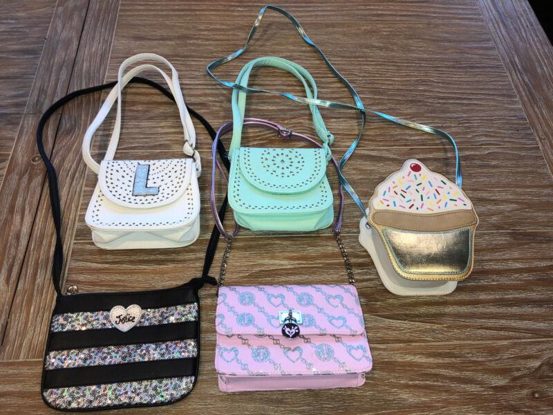 Justice Girls Purse Handbags Lot Pink Black White Green Cupcake