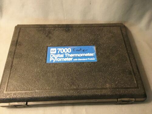 TIF 7000 Digital Thermometer Pyrometer 2 Standard Probes Black Case Never Used
