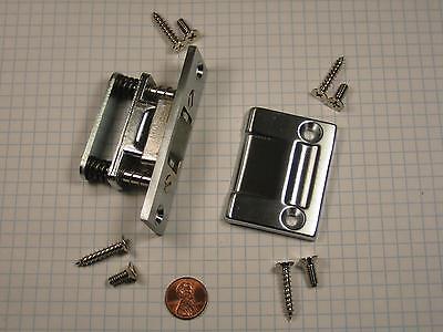 Chrome Brass Roller Latch - BALDWIN #0430.264 ROLLER LATCH, SOLID BRASS, SATIN CHROME-PLATED, HEAVY-DUTY