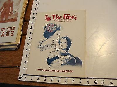 vintage Magazines: THE RING: WASHINGTON'S OPERA REVIEW vol. 4, no.3, Feb. 1977