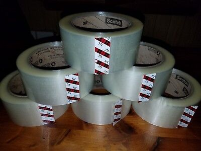3m 371 Scotch Clear Packaging Tape 2x110yd 48mmx100m Carton Sealing Box Ship