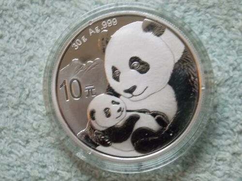 2019 Chinese Silver Panda 10 Yuan 30 grams BU