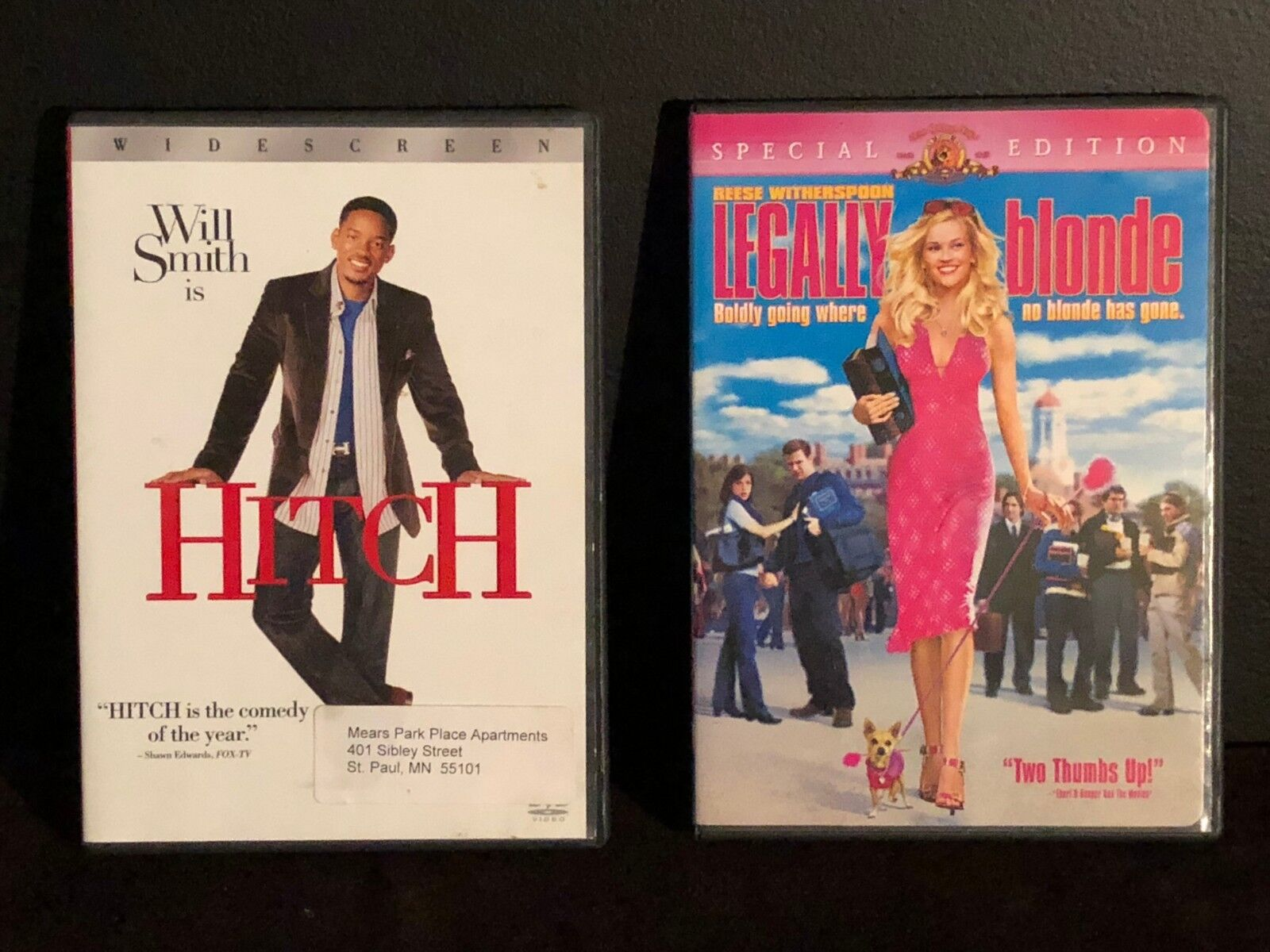 Lot Of 2 Dvds. Includes Hitch And Legally Blonde - $0.99
