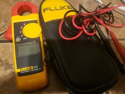 Clamp Meter Fluke 323 True Rms 600v Ac Dc Measures Ac Current 400 Amp