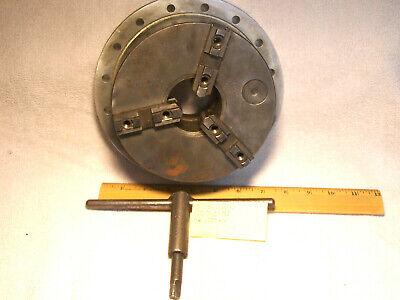 6-14 Precision Seciality Lathe Chuck 3 Jaw W Flat Back Key 1603-1-m1
