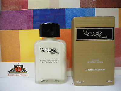 VINTAGE VERSACE L'HOMME AFTER SHAVE BALM 3.4 OZ / 100 ML OLD PACKAGE OLD FORMULA