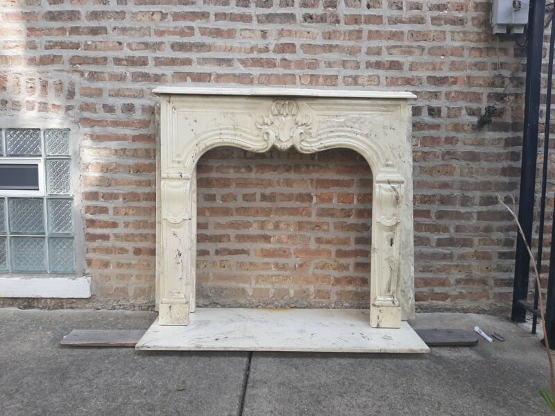 Antique Victorian Fireplace Surround heavy simulated marble