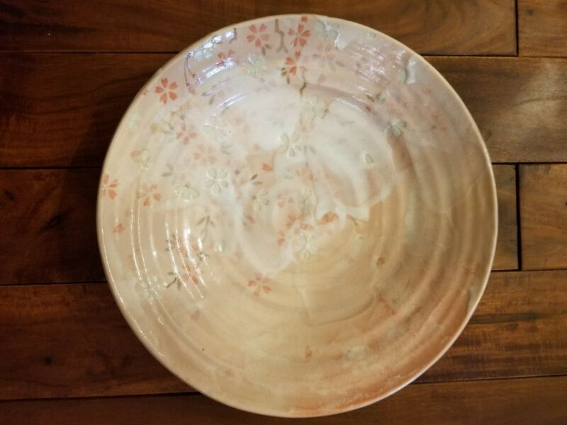 Japanese Cherry Blossom Pottery Bowl