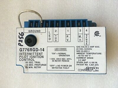 Johnson Controls G776rgd-14 Furnace Ignition Control Used Free Shipping P856