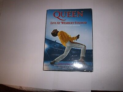 QUEEN,LIVE AT WEMBLEY STADIAM, 25THANNIVERSARY EDITION,2 DVDS & 2 CDS SET.