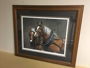 Ducks Unlimited Print / Painting - Horse Theme.