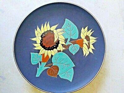 "Vintage W.Germany Rare Decorative Plate Art Pottery ""Sun Flower"""