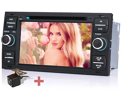 Für Ford Focus Fiesta Galaxy Kuga Autoradio Navi GPS MP3 RDS DVD Rückfahrkamera