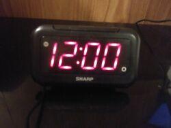 Sharp Digital LED Alarm Clock Model - SPC066 Read Description