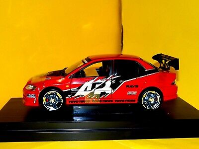 MITSUBISHI  LANCER  EVOLUTION VII  2002 THE FAST AND THE FURIOUS RC2 53607A 1:18 for sale  Shipping to United Kingdom