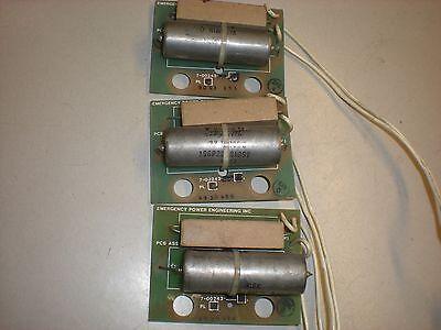 Lot Of 3 Emergency Power Engineering 7-00243 Resistorcapacitor Boards