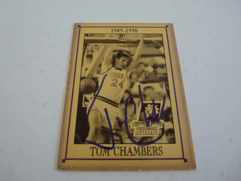 Tom Chambers Suns 25 Years Signed Autographed Basketball Card PSA Guaranteed