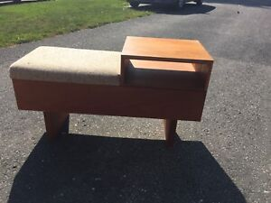 Vintage Bench with Table top and Storage - Wood