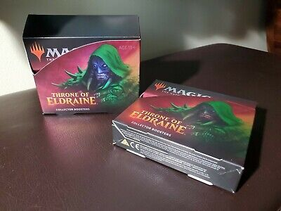 MTG Throne of Eldraine - Collector's Booster Boxes x2 (No Cards, Boxes Only)