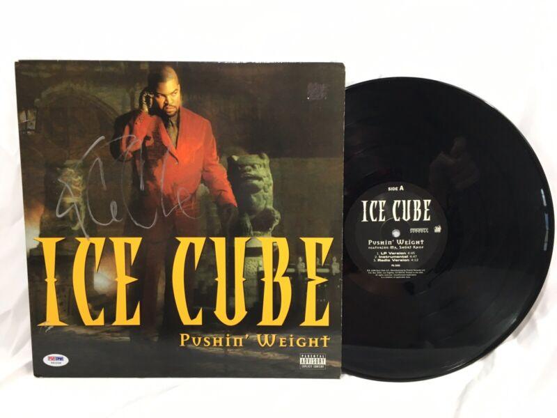 Ice Cube Signed Pushin' Weight Record Vinyl JSA Coa