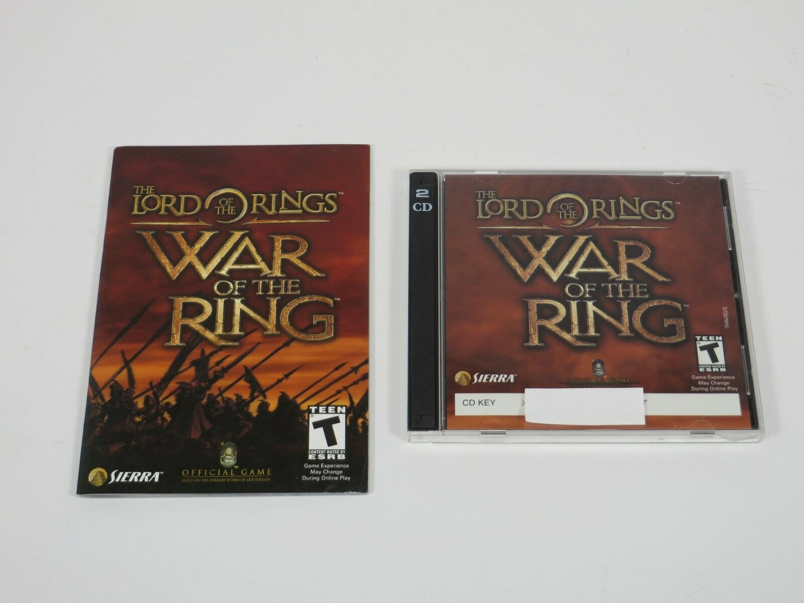 Computer Games - Lord of the Rings: War of the Ring (PC, 2003) PC Vintage Computer Game Sierra