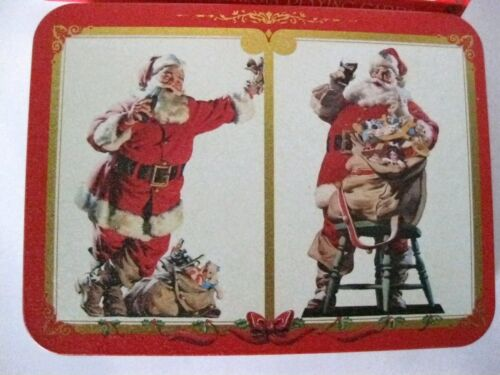 Coca-Cola Nostalgia Playing Cards Collectible Tin - 2 Sealed Santa Decks 1994 3