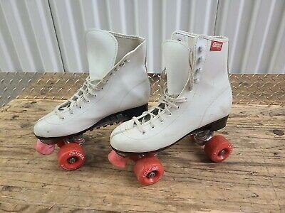 Details about  /Vintage Steel Roller Skate Punta Shoes terminals Chicago Skate Co show original title