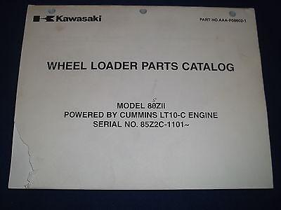 Kawasaki 80zii Wheel Loader Parts Catalog Book Manual Sn 85z2c-1101-up