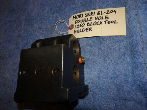 "MORI SEIKI SL-204 BLOCK TOOL HOLDER 1.250"" DOUBLE HOLE"