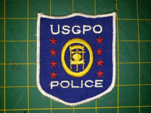 USGPO POLICE PATCH VERY OLD  PRINTING OFFICE US GOVERNMENT DC WASHINGTON MD VA