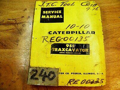 Cat Caterpillar 955 Traxcavator Service Manual 60a1-up
