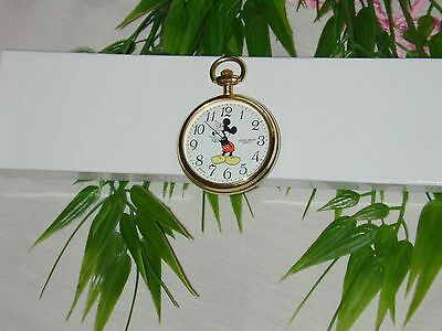Mickey Mouse Pocket Watch Vintage Colibri Disney Collectable 12-hour Hands