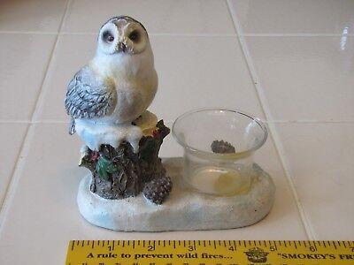 Подсвечники и аксессуары snowy owl candle