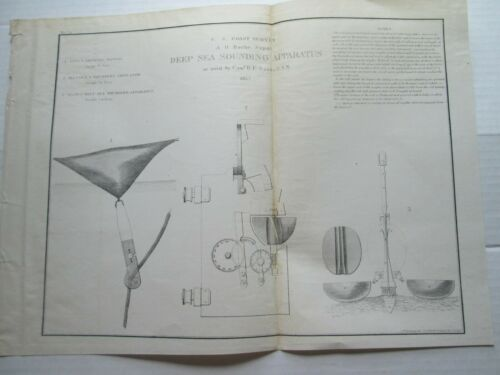 ONE (1) 1857 COAST SURVEY,  DEEP SEA SOUNDING APPARATUS