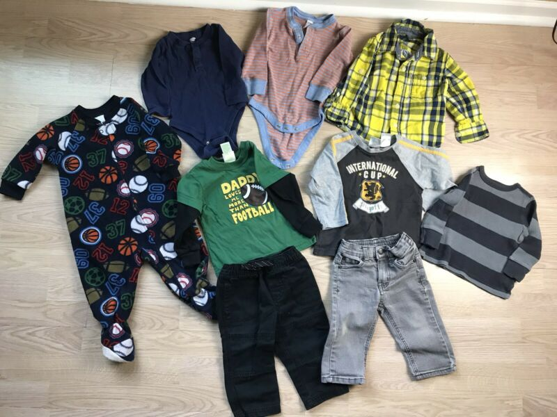 Baby Boy Clothing Lot 12-18months, 9 Pieces